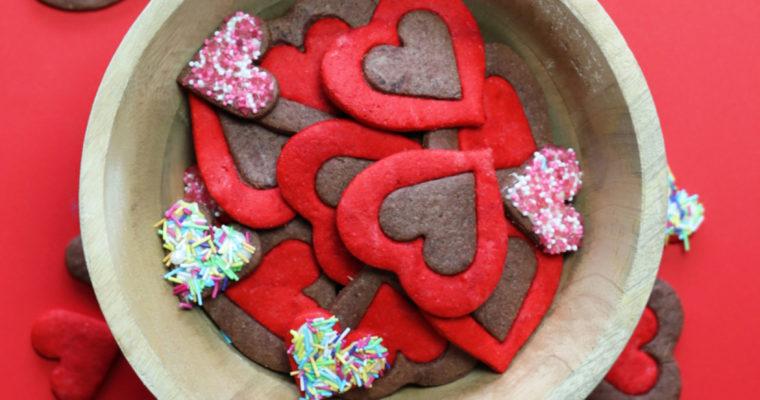 Valentýnské srdíčka dvoubarevná