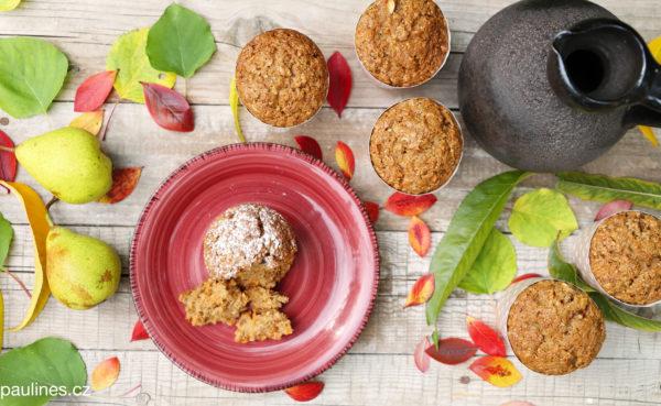 Mrkvovo – hruškové muffiny