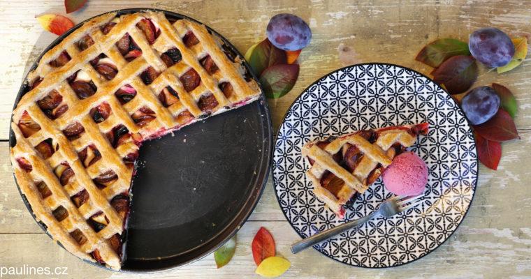 Linecký švestkový koláč