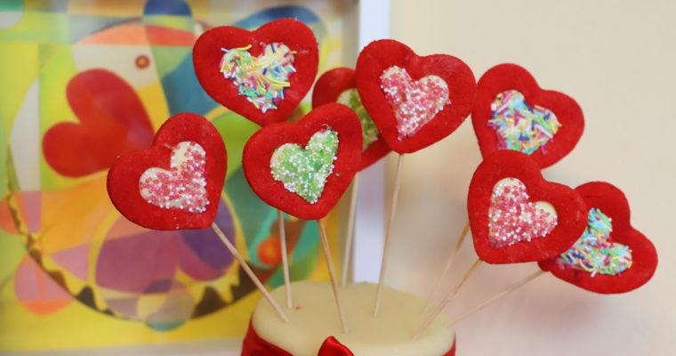 Valentýnská srdíčka s čokoládou