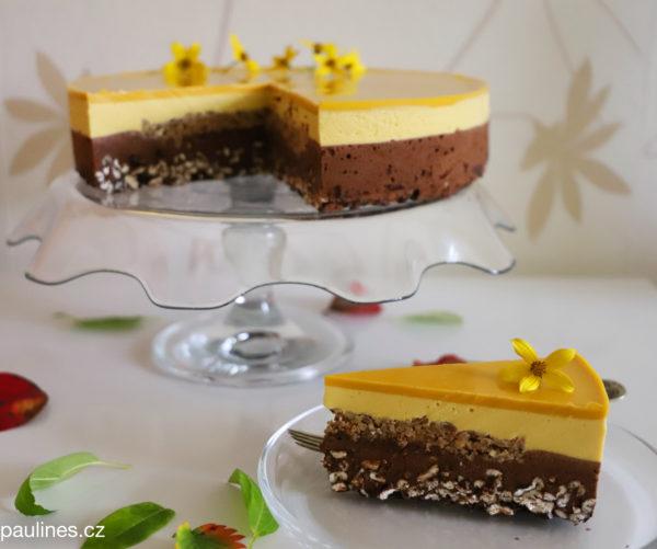 Mango – čokoládový dort