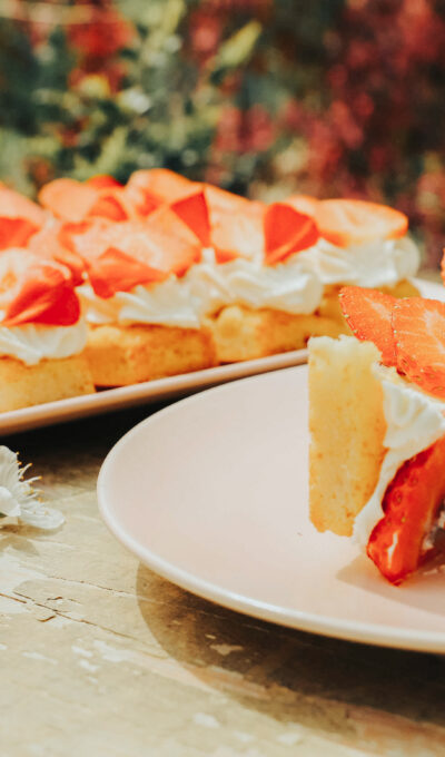 Jogurtové, jahodové dortíky