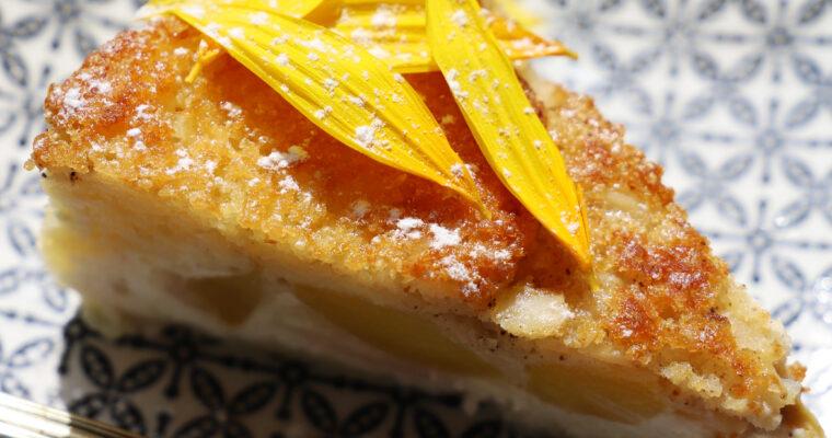 Broskvový koláč s tvarohem