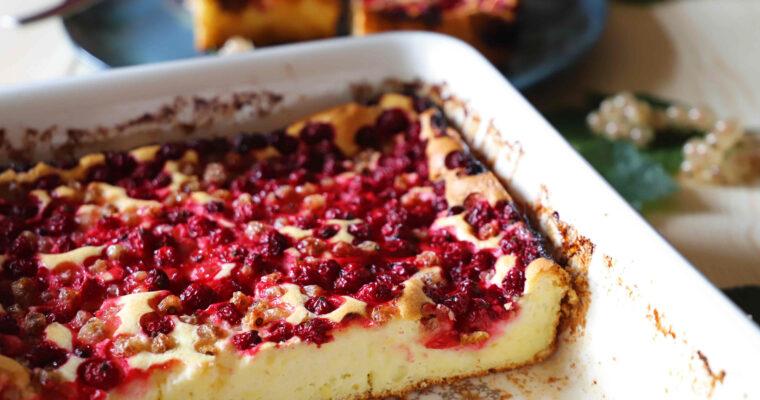 Bezlepkový rybízový koláč