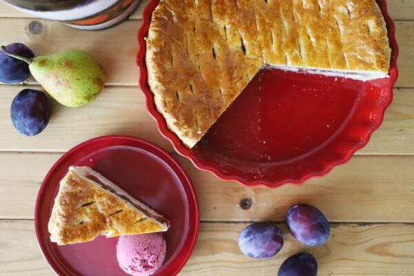 Kynutý ovocný koláč