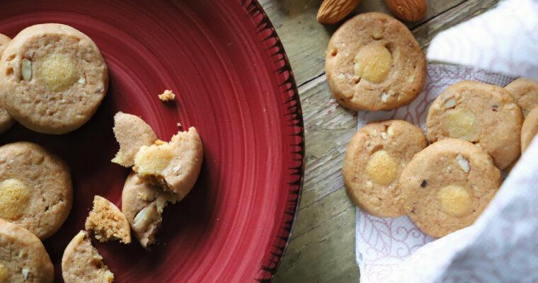 Mandlové cukroví s marcipánem