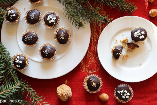 Ořechové košíčky s nutelou