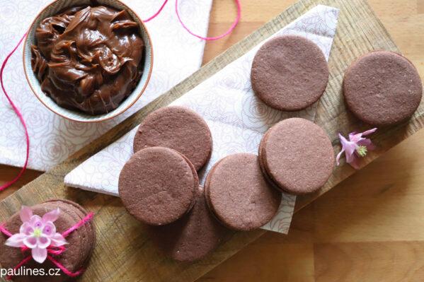 Čokoládové karamelové sušenky
